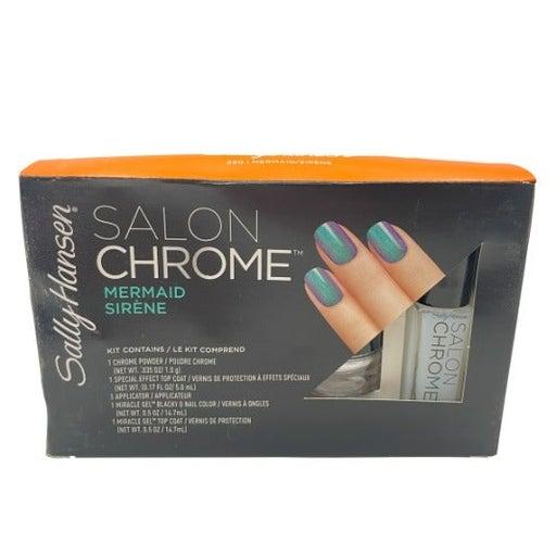 Sally Hansen Salon Chrome MERMAID SERENE 5 Piece Gel Nail Polish Kit