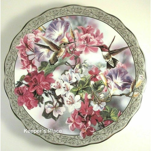 Morning Glory Janene Grende 1st In Whispering Wings Series Plate # 8672A Mint