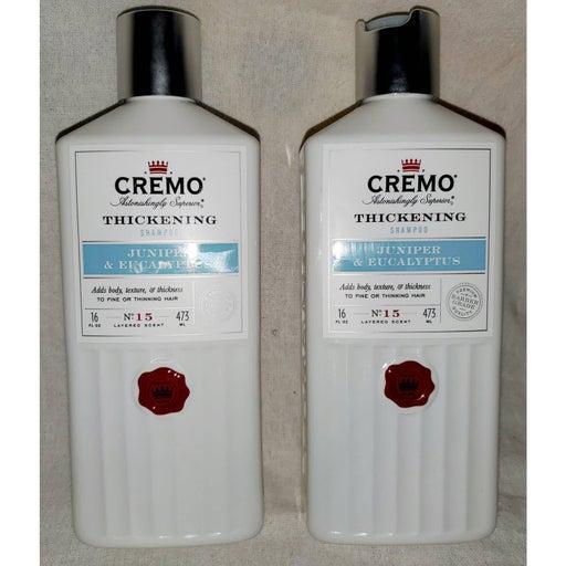 2 Cremo Juniper Eucalyptus Thickening Shampoo 16oz