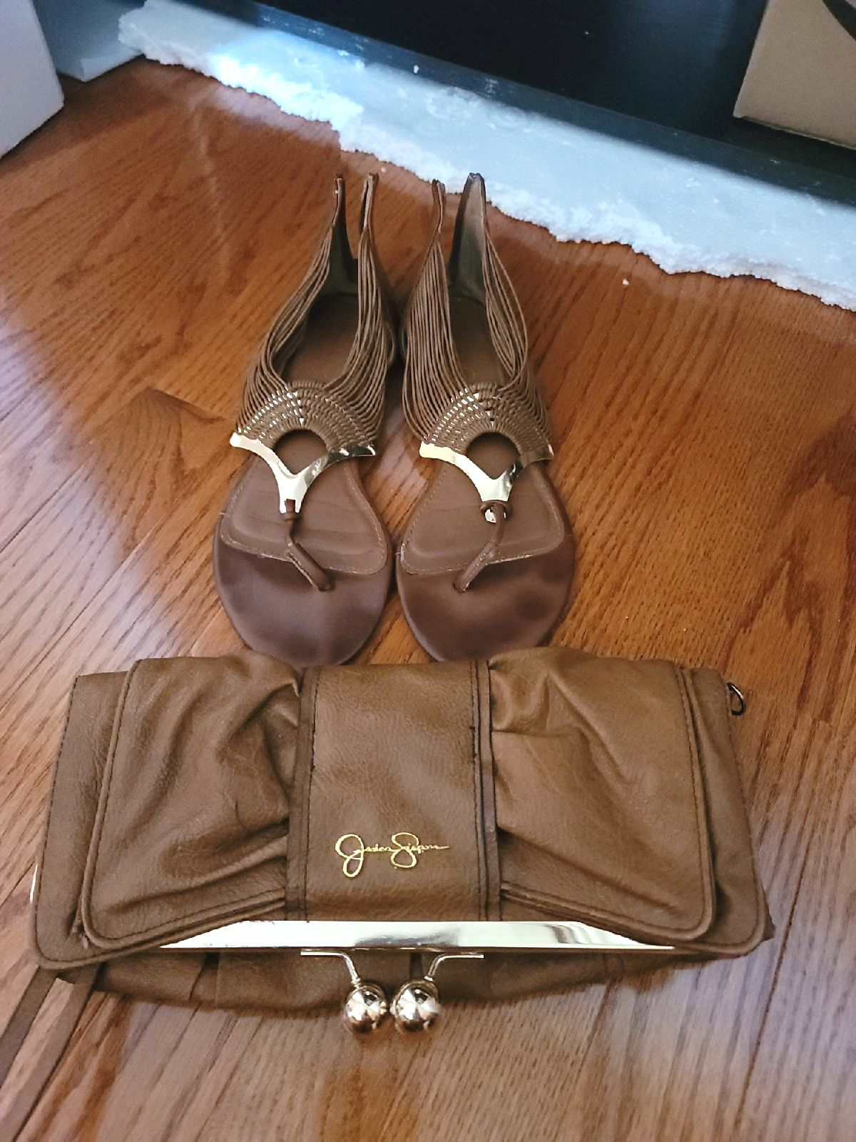 Aldo Zipper Sandals + Jessica Simpson Cl