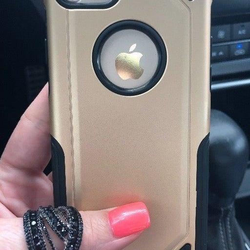 NEW iPhone 7/8 Gold Hybrid Armor Case