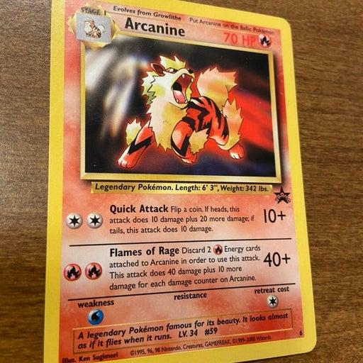 Rare Arcanine Promo Pokemon Card