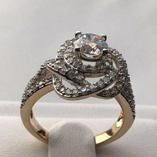 14k Yellow Gold plated ring size 6-7-8