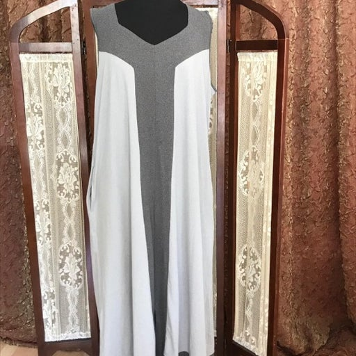 Cuddl duds 2x gray dress flexwear maxi