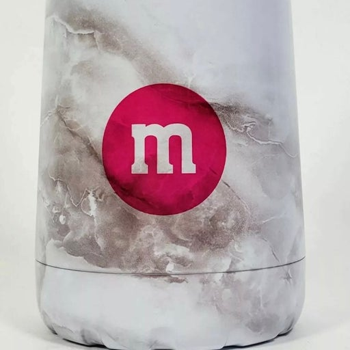 m&m's Pink Marble Bottle Cone Tumbler