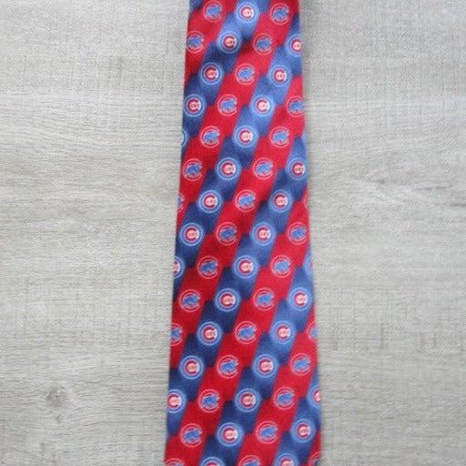 Chicago Cubs Mens Silk Tie