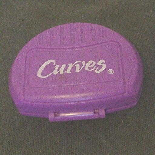 Curves Purple Pedometer Clip On EC