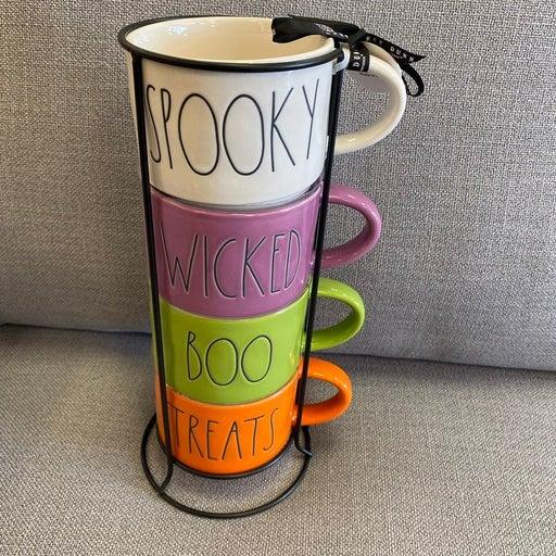 rae dunn double side 4 mugs