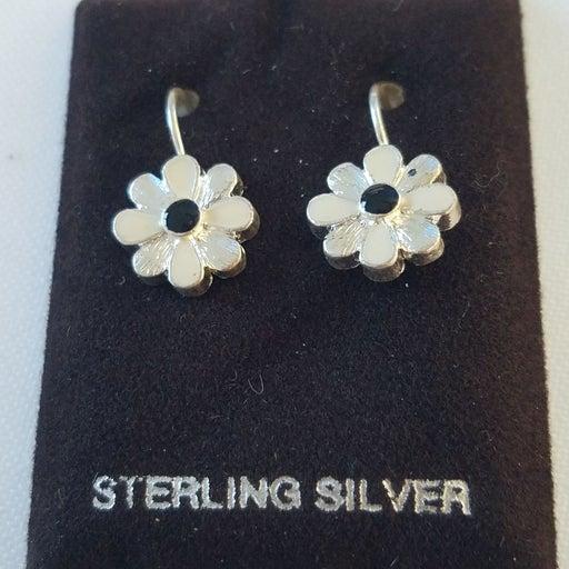 Sterling flower earrings