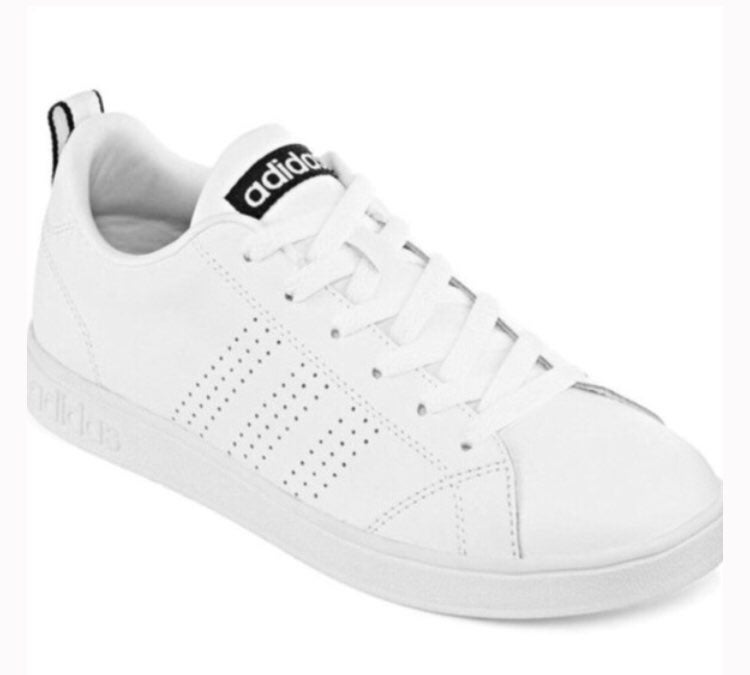 Adidas neo white sneakers 8.5