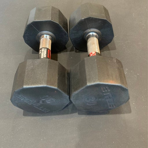 2 (Two) Ethos Rubber Hex 30 LB Dumbell