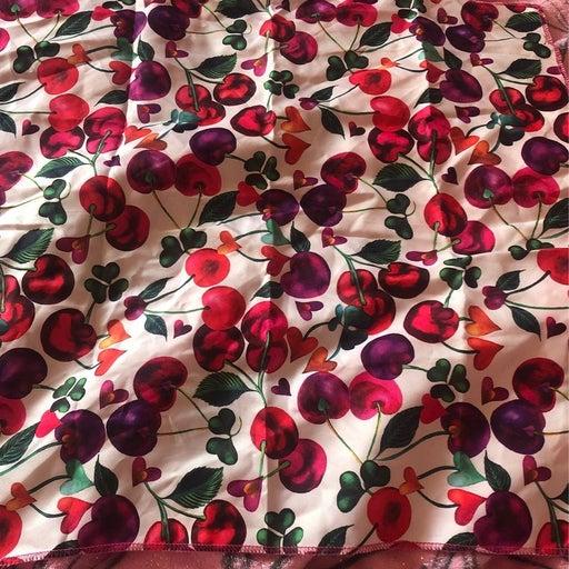 Lush cherry love knot wrap