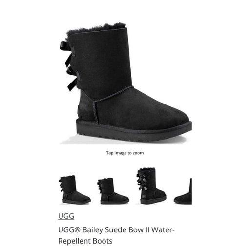 Ugg Bailey suede bow II water repellant