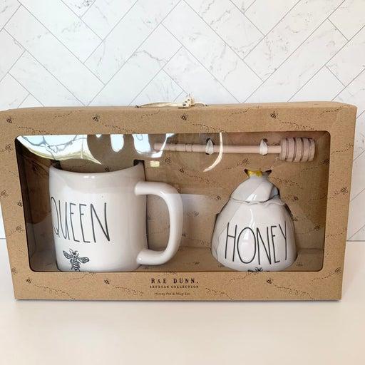 Rae Dunn Queen Bee and Honey Pot Set