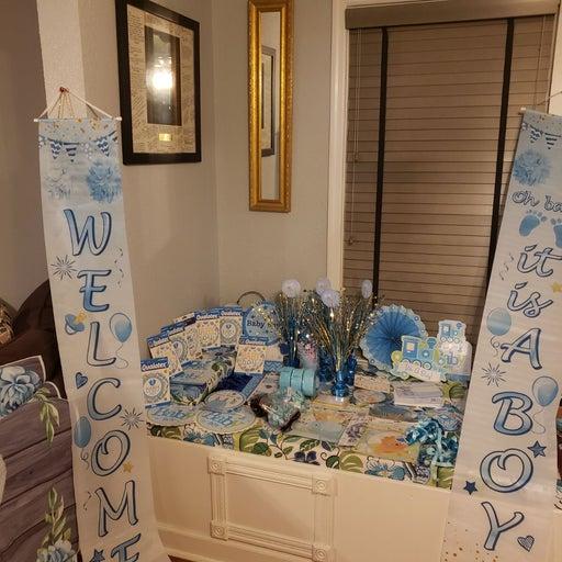 BABY BOY BLUE SHOWER ACCESSORIES $200
