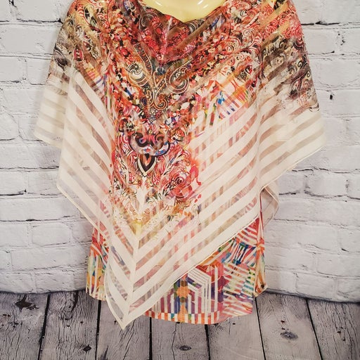 NWT One World Sz Med Multi Color Top