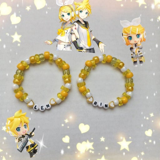 Vocaloid Kagamine Rin Len Kandi Bracelet