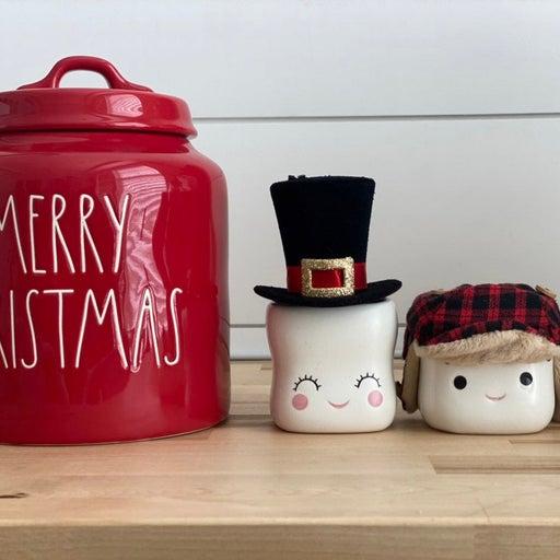 Lumberjack amd Tophat Hats For Marshmallow Mugs