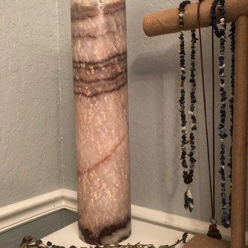 Lavendar Onyx Lamp