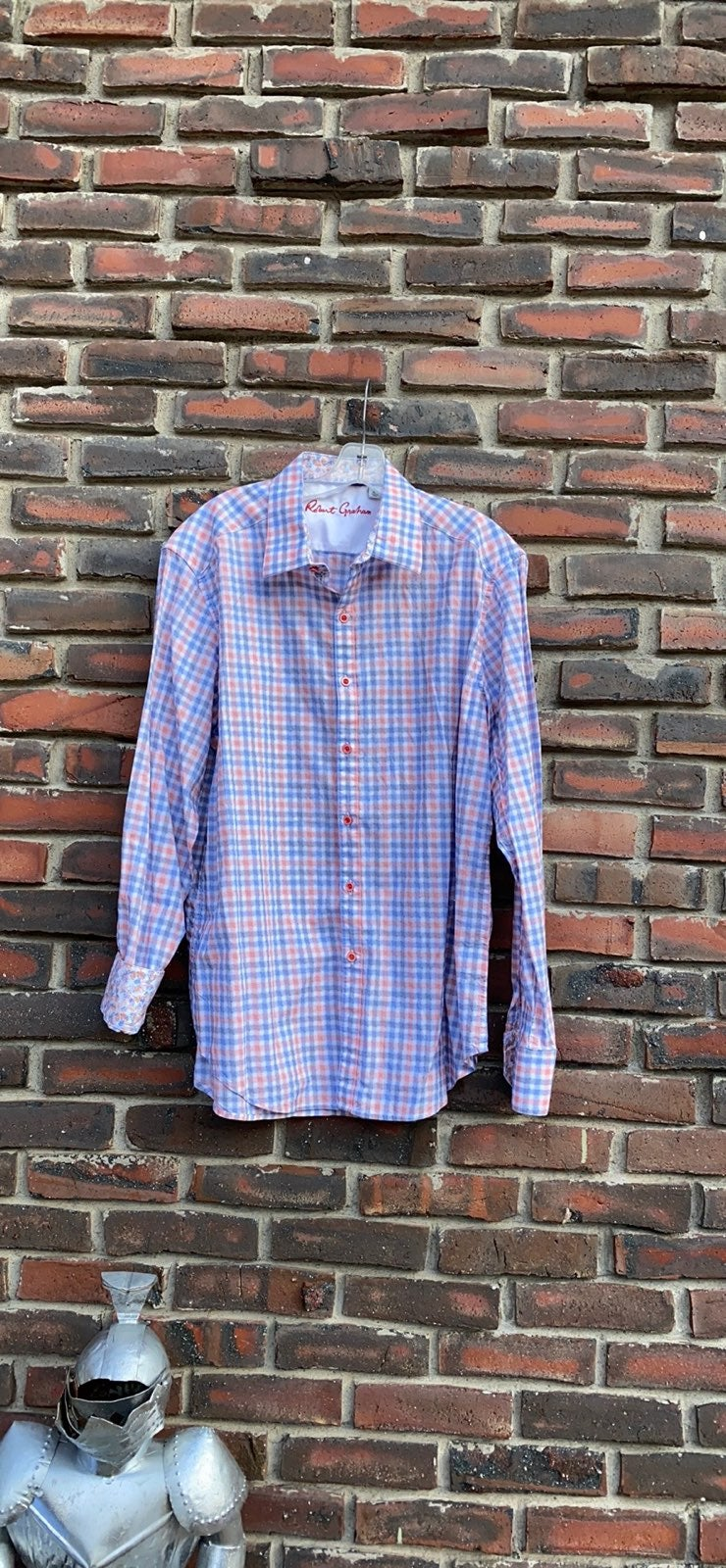 Robert Graham XL Cked Dress Shirt