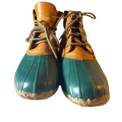 """Eddie Bauer Lace Up """"Duck"""" Rain Boots  9"""