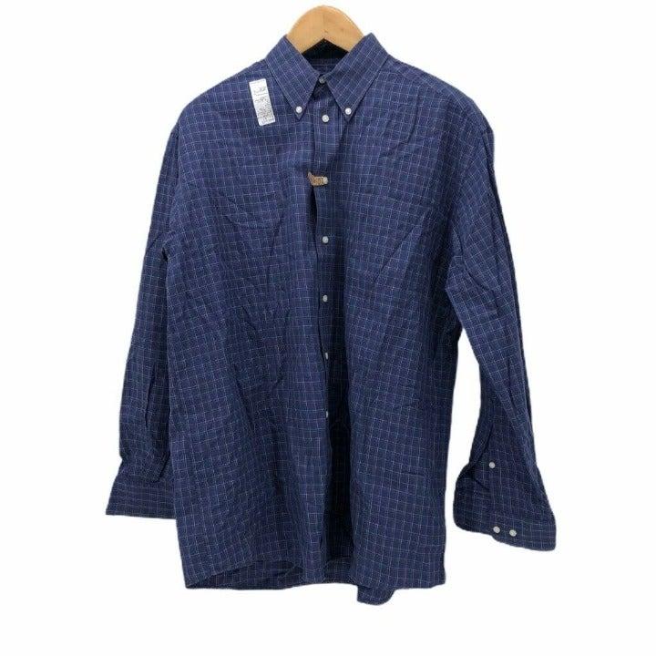 Hathaway Mens Shirt Blue White Oxford L