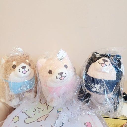 3 mini Shiba plush
