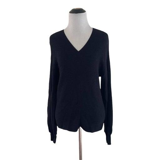 1 State XXS Black V-Neck Sweater NWOT