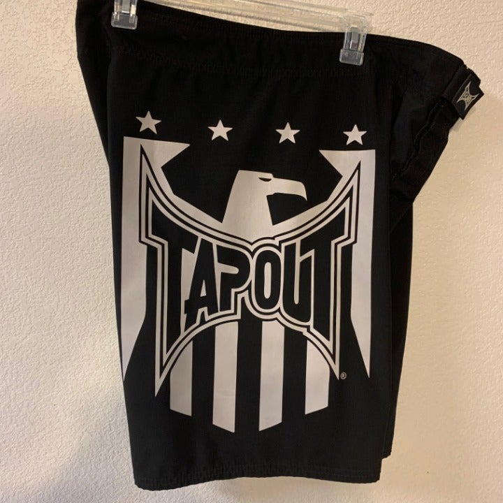 Tapout Logo Black And White 38 Shorts