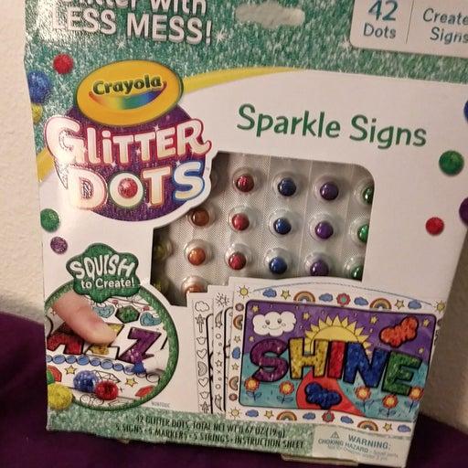 Crayola Glitter Dots (Signs)
