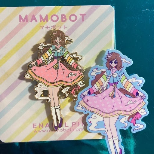 Mamobot D.va Enamel Pin