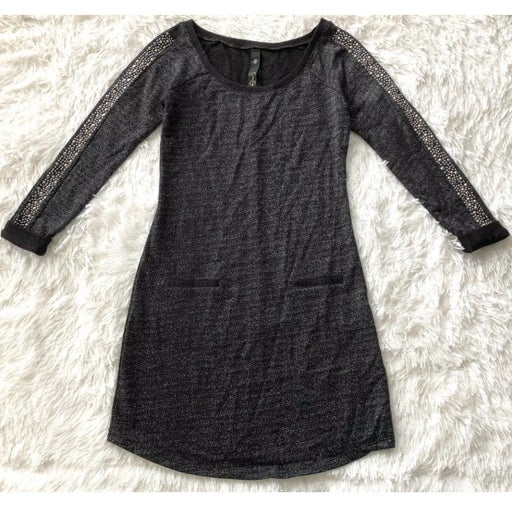 Jessica Simpson Black Metallic Dress-XS