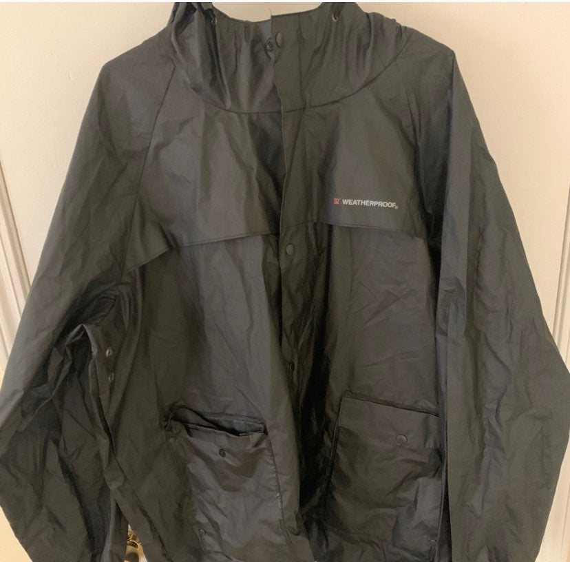 Waterproof rain black jacket