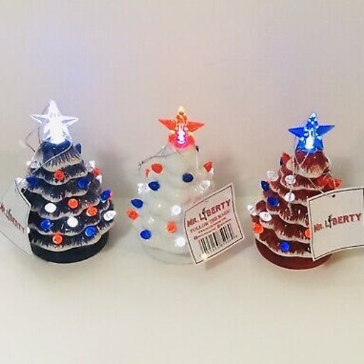 Mr. Liberty set of 3 Mini LED trees
