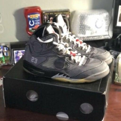 Jordan Retro 5 X Nike Black Virgil Abloh Off White