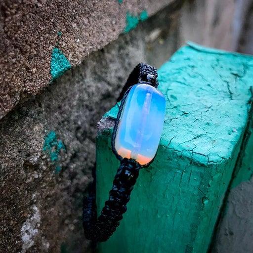 Iridescent Opalite Stone Waxed Bracelet