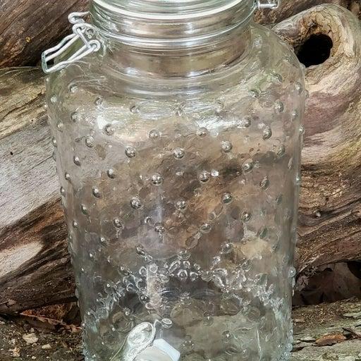 Hobnail 1 gallon Glass drink Dispenser