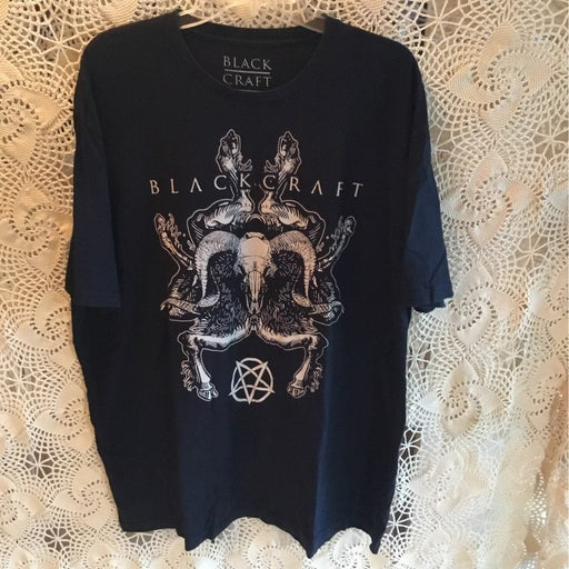 Blackcraft cult baphomet skull pentagram tee shirt 3x