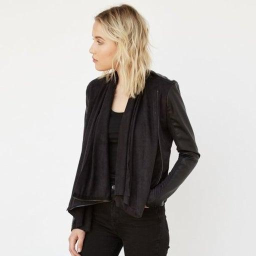 BlankNYC Drape Front 'Whatever It Takes' Jacket