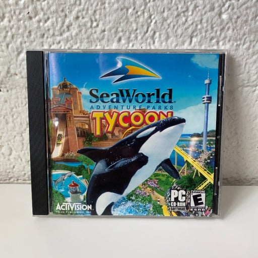 SeaWorld Adventure Parks Tycoon PC Game, good Condition