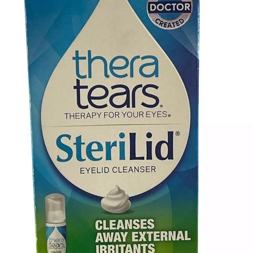 (1) TheraTears Sterilid Eyelid Cleanser, 1.62 fl oz Multi Use FOAM Pump