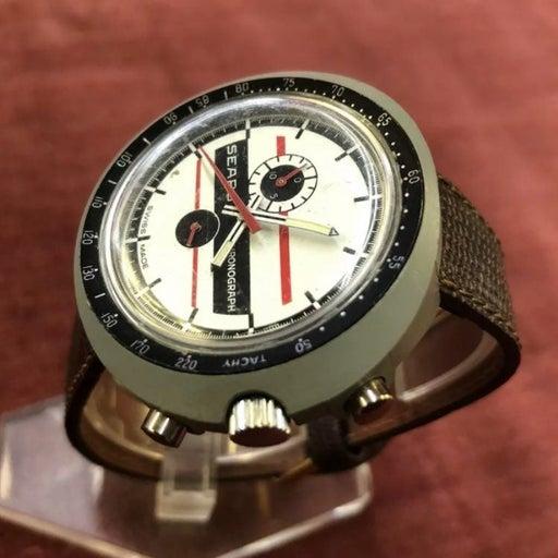 Super Rare Tag Heuer Sears Leonidas Chronograph Racing Dial Watch