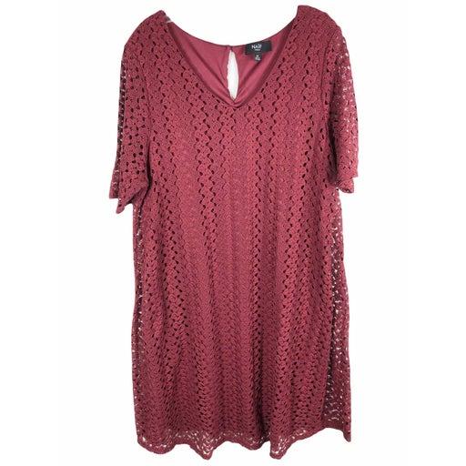 Naif Plus Size 2X Dress Lace Shift 1243