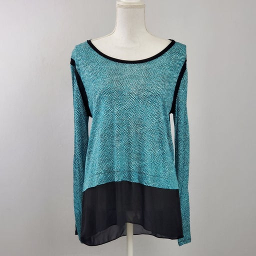 Michael Kors Turquoise Faux Layer Top
