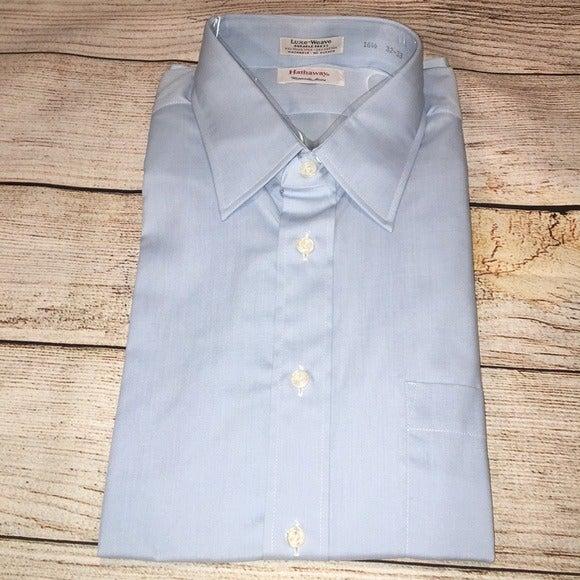 Hathaway Luxe Weave Dress Shirt 16.5 32