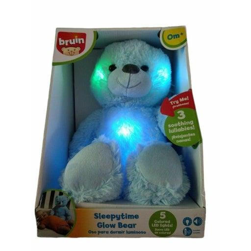 Bruin Blue Sleepytime Glow Bear Baby Musical Lights Plush Sleeping Light Up New
