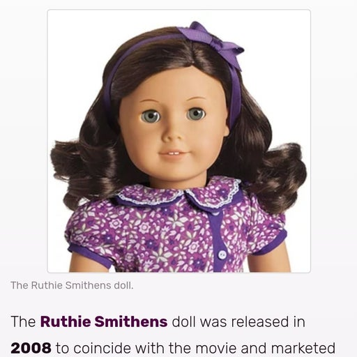 AMERICAN GIRL DOLL RUTHIE 2008 RETIRED W