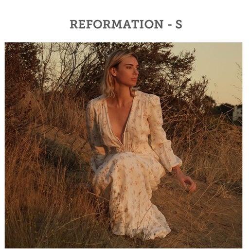 REFORMATION Chantal in Geraldine Floral Linen Maxi Dress