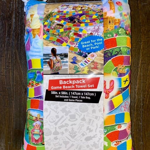 CandyLand Backpack Beach Towel Game