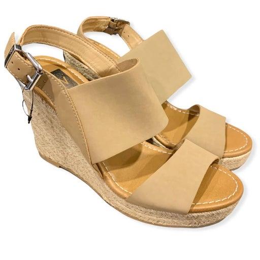Dolce Vita Espadrille Wedge Sandals Cream Beige 9.5